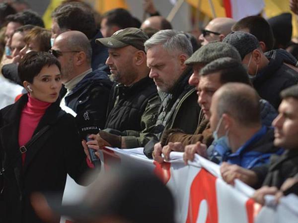 Gürcüstan parlamentinin binası qarşısında etiraz aksiyası keçirilir