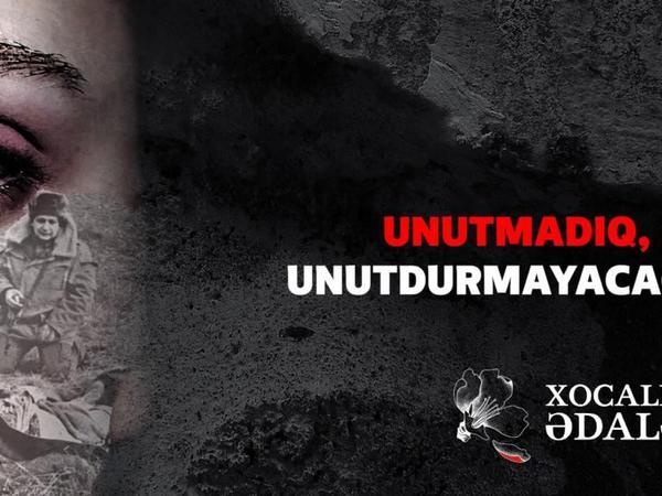 """Xocalı Soyqırımını """"Unutmadıq, unutdurmayacağıq!"""" - FOTO"""