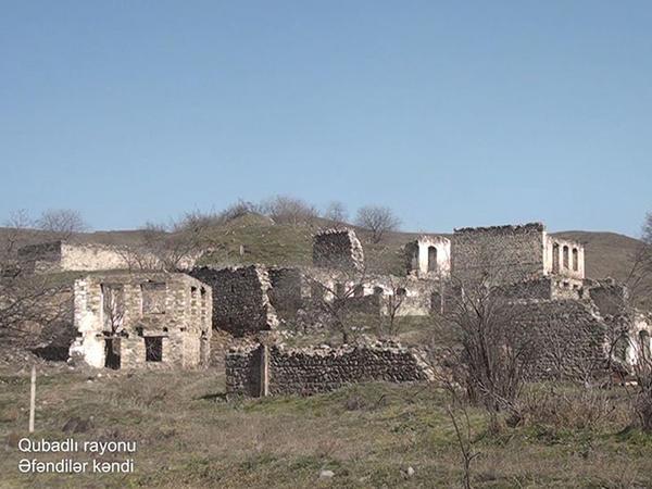 Ermənilərin dağıtdığı daha bir kənddən görüntülər - VİDEO - FOTO