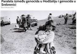 Bosniyalı redaktor Xocalı və Srebrenitsa soyqırımları arasında paralelliyi təhlil edib