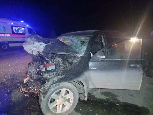 Bərdədə 3 avtomobil toqquşdu, iki nəfər ölüb, xəsarət alanlar bir ailənin üzvləridir - FOTO