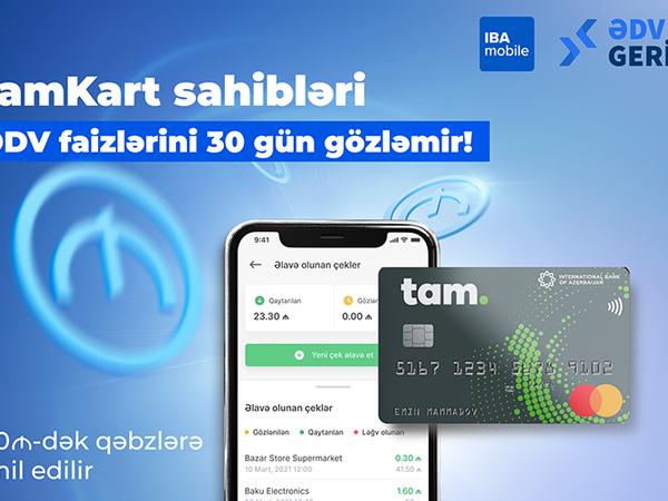 TamKart sahibləri ƏDV faizlərini 30 gün gözləmir