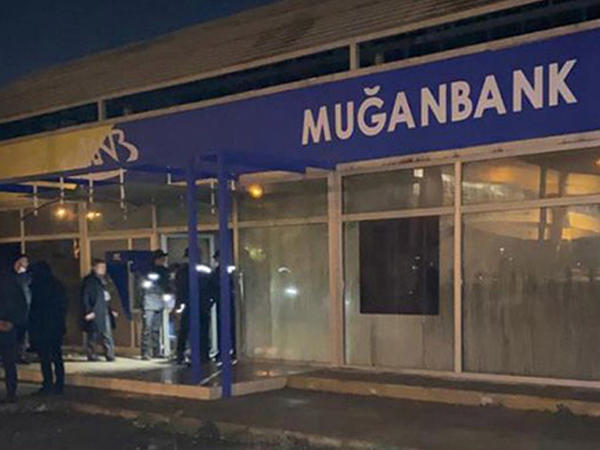 """""""Muğanbank""""ın filialı yandı - FOTO"""