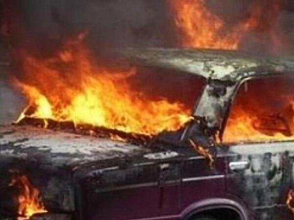 """Sumqayıtda """"Hyundai"""" yandı"""
