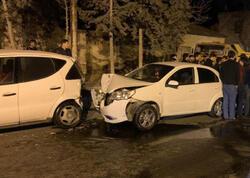 """Abşeron rayonunda iki avtomobil toqquşub, <span class=""""color_red"""">xəsarət alan var - VİDEO - FOTO</span>"""
