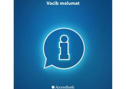 """""""AccessBank"""" müştərilərinin nəzərinə"""