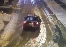 Sərxoş sürücü polisi 1 km boyunca kapotun üstündə apardı - VİDEO