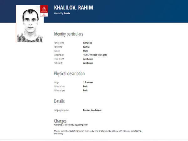 40 yaşlı azərbaycanlı beynəlxalq axtarışa verildi