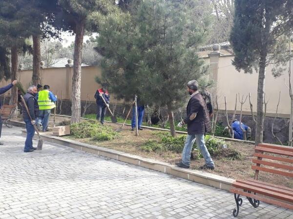 Xəzər rayonunda dezinfeksiya işləri aparılıb - FOTO