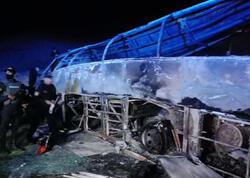 Avtobusla benzindaşıyan toqquşdu, 18 nəfər külə döndü