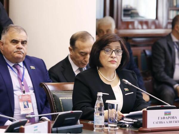 Milli Məclisin Sədri Sahibə Qafarova MDB PA-nın 52-ci plenar iclasında çıxış edib - FOTO