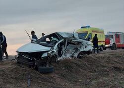 Rusiyada ağıra yol qəzası baş verib, 2 sürücü hadisə yerində ölüb