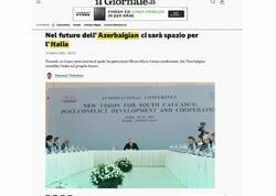 """İtaliya mətbuatı: """"Prezident İlham Əliyev: İtaliya yaxın dost və tərəfdaşdır"""