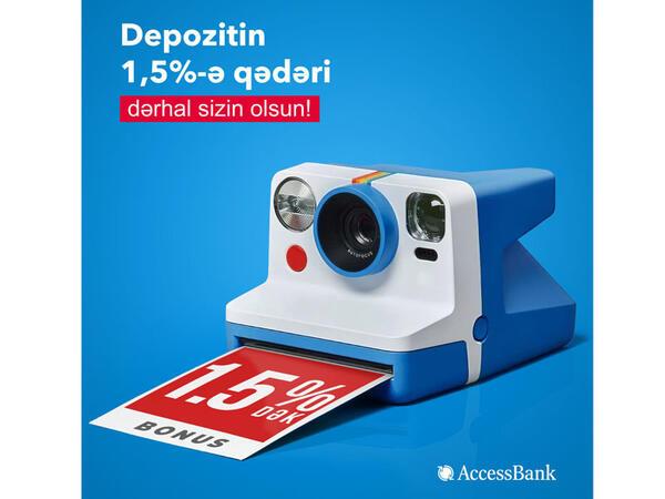 """""""AccessBank""""dan yeni əmanətçilərə bonus hədiyyə!"""