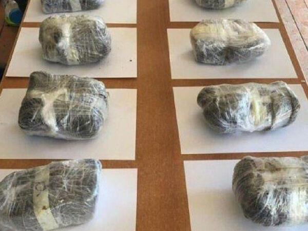 Sərhəddən 122 kiloqram heroin keçirilməsi cəhdinin qarşısı alındı