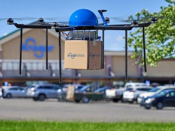 """""""Kroger"""" supermarket şəbəkəsi alış-verişi dronlarla çatdırmağa başlayıb"""