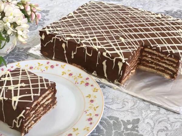 20 dəqiqəyə hazır olan tort resepti- VİDEO