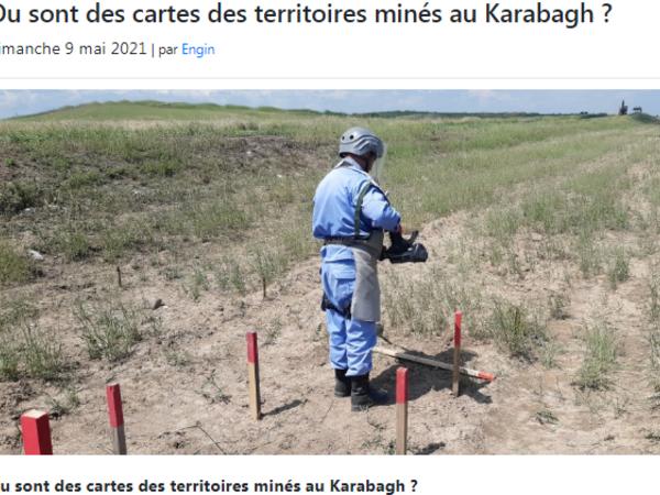 Azərbaycanlı jurnalist Fransa portalında minalanmış ərazilərdən yazıb