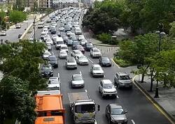 Bakıda təmir gedən yolda tıxac yaranıb - FOTO