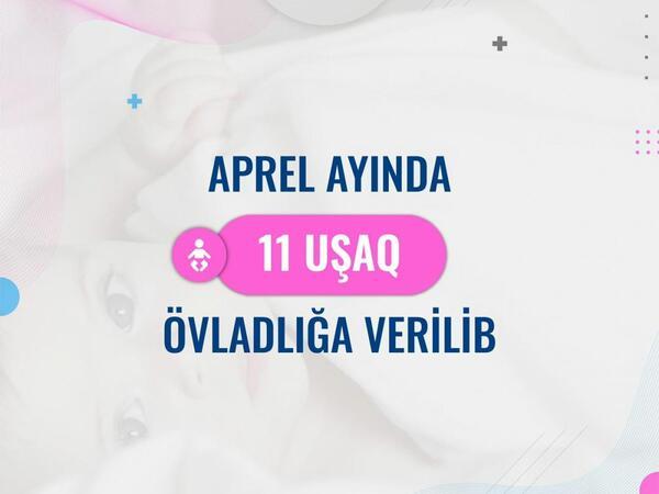 Aprel ayında 11 uşaq övladlığa verilib