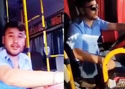 """""""TikTok"""" videosu çəkən avtobus sürücüsü işdən çıxarıldı - VİDEO"""
