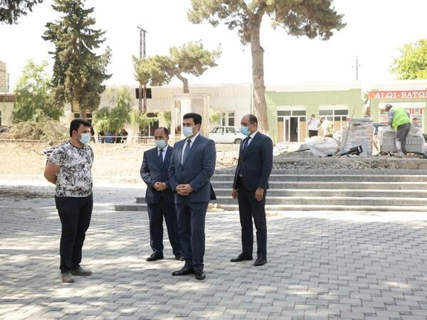 Xaçmaz rayonunda Zəfər parkı inşa edilir - FOTO