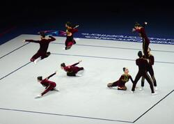 Azərbaycan komandası aerobika gimnastikası üzrə dünya çempionatında aerodans proqramında finala çıxıb - FOTO