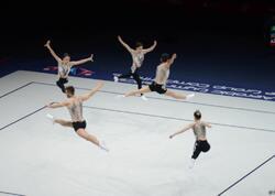 Azərbaycan komandası aerobika gimnastikası üzrə dünya çempionatında qrup hərəkətlərdə finala çıxıb - FOTO