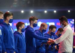 Aerobika gimnastikası üzrə dünya çempionatında komanda hesabında qaliblər mükafatlandırılıb
