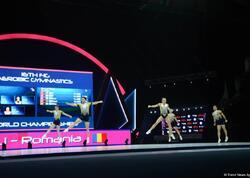 Aerobika gimnastikası üzrə dünya çempionatında qrup hərəkətlərində Rumıniya qızıl medal qazanıb - FOTO