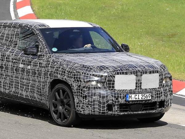 BMW yeni X8 krossoverini Nürburqrinqdə sınayır - FOTO