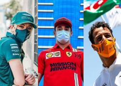 Formula 1 pilotları Bakıdadır - FOTO