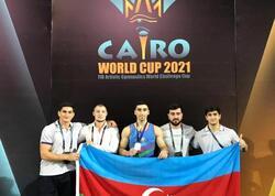 Azərbaycanlı gimnast Qahirədə keçirilən Dünya Kubokunda gümüş medal qazanıb - FOTO