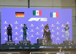 Formula 1 Azərbaycan Qran Prisinin qalibləri mükafatlandırıldı - FOTOlar