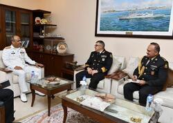 Kontr-admiral Sübhan Bəkirov Pakistanda bir sıra görüşlər keçirib - FOTO