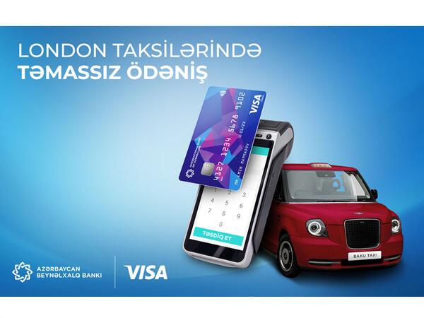 Bakı Taksi Xidmətinin London taksilərində gediş haqqını təmassız ödə!