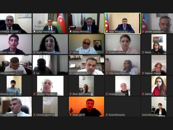 YAP Xəzər rayon təşkilatı videoformatda tədbir keçirib - FOTO