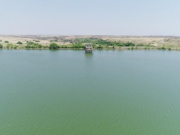 Prezident İlham Əliyev Füzuli rayonundakı Aşağı Köndələnçay su anbarında olub - FOTO