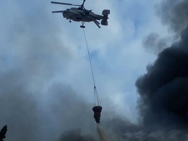 Xaçmazda güclü yanğın - Helikopter cəlb olundu