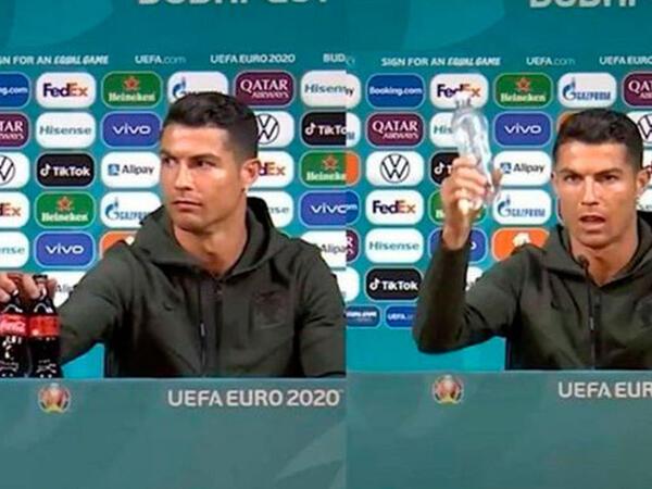 """Ronaldo """"Coca-Cola""""ya qarşı - Sağlamlıq, yoxsa pul? - <span class=""""color_red"""">VİDEO</span>"""