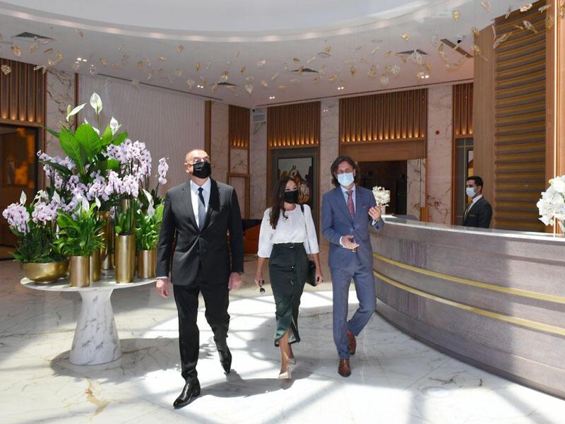 """Prezident İlham Əliyev və birinci xanım Mehriban Əliyeva Bakıda """"Intercontinental"""" otelinin açılışında iştirak edib - VİDEO - FOTO"""