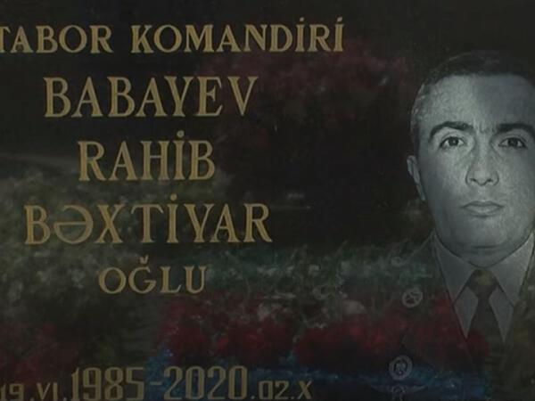 """Şəhid mayor Rahib Babayevin doğum günü idi - <span class=""""color_red"""">VİDEO</span>"""