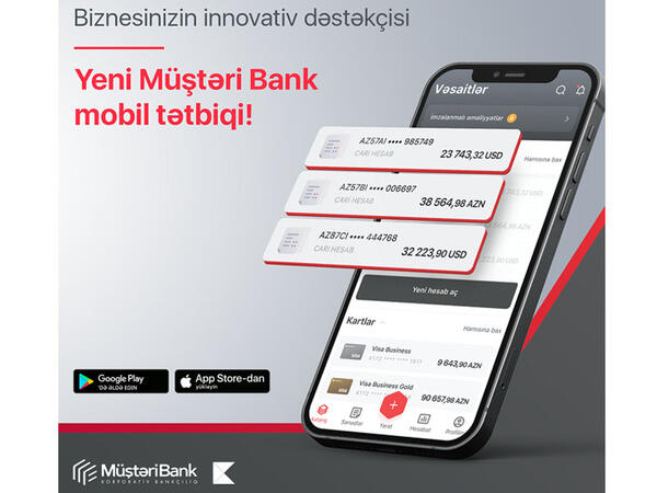 """""""Müştəri Bank Mobile"""" - biznes üçün yeni mobil bankçılıq tətbiqi"""