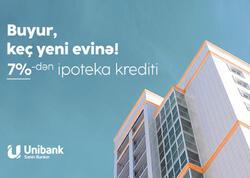 Unibank ipoteka faiz dərəcəsini endirib