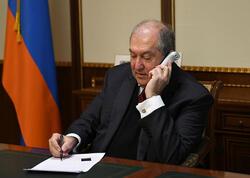 Ermənistan Prezidenti Koçaryana zəng etdi