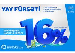 Azərbaycan Beynəlxalq Bankı kredit faizini endirdi!