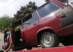 Sükan arxasında yuxulayan sürücü qəza törətdi - FOTO