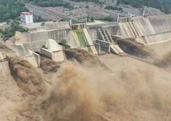 Çində sel su bəndini dağıtdı - 100 min sakin təxliyə olundu