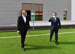 Prezident İlham Əliyev Goranboy Olimpiya İdman Kompleksinin açılışında iştirak edib - VİDEO - FOTO