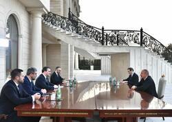 Prezident İlham Əliyev Serbiyanın xarici işlər nazirinin başçılıq etdiyi nümayəndə heyətini qəbul edib - VİDEO - FOTO